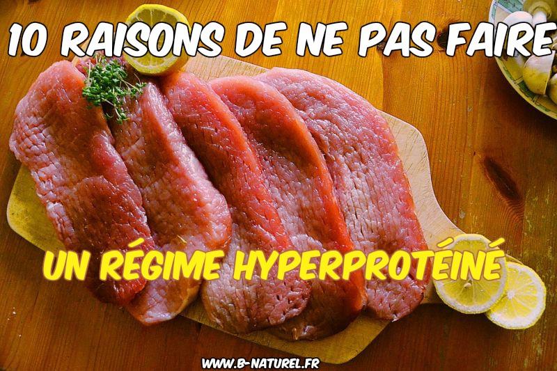 ne pas faire un régime hyperprotéiné