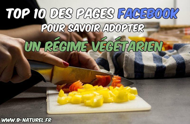 pages Facebook pour savoir adopter un régime végétarien